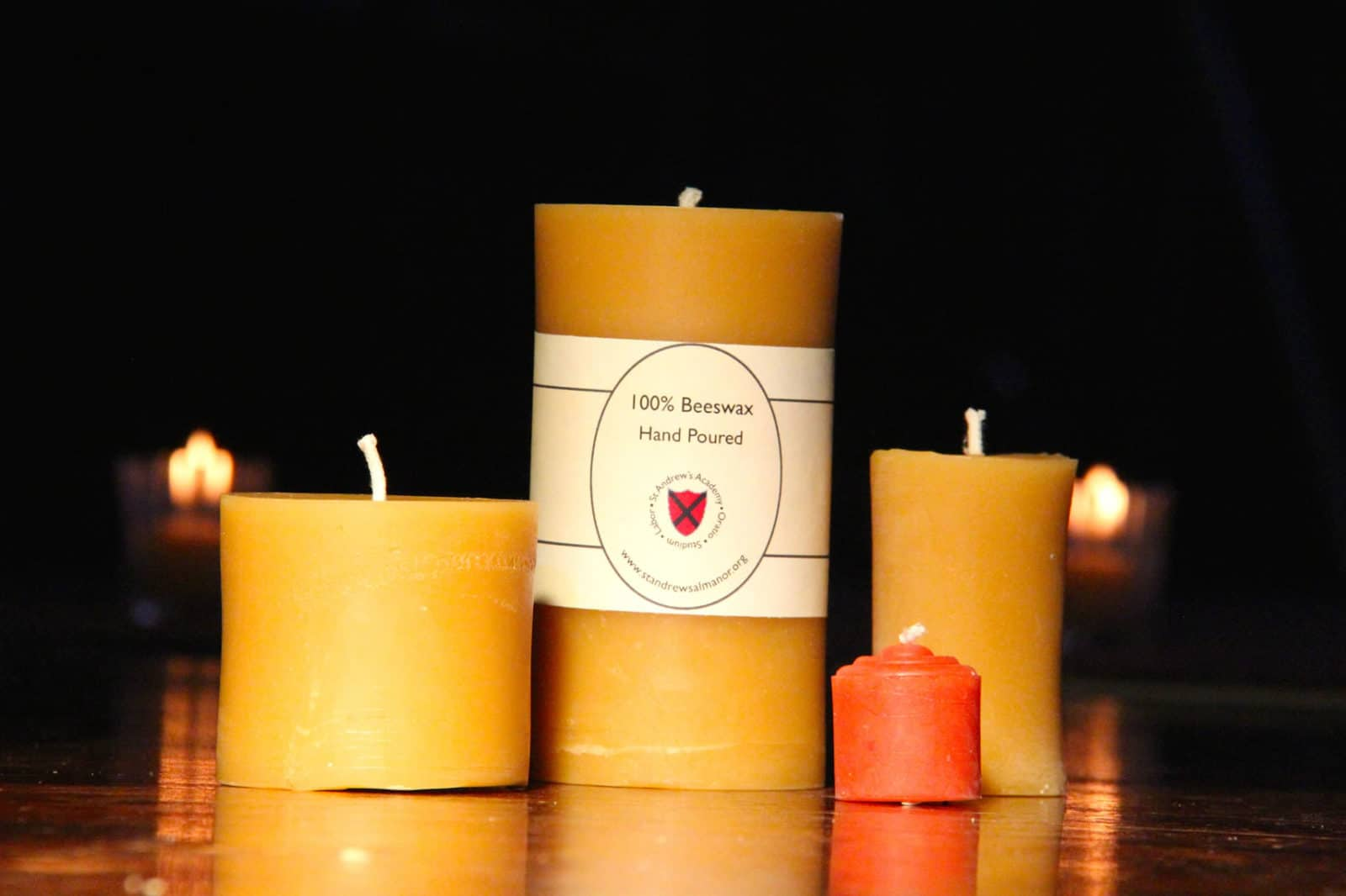 100% Beeswax Candles from St Andrews, Lake Almanor