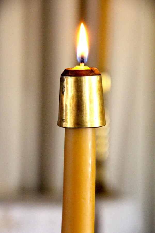 100% Beeswax 7/8th in. Taper Candle